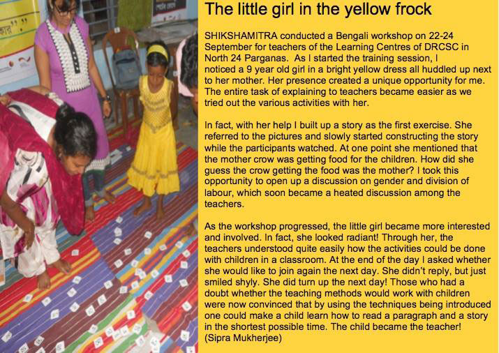 The little girl in the yellow frock